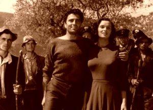 Lucia Bose impreuna cu Giuseppe de Santis in filmul sau de debut.
