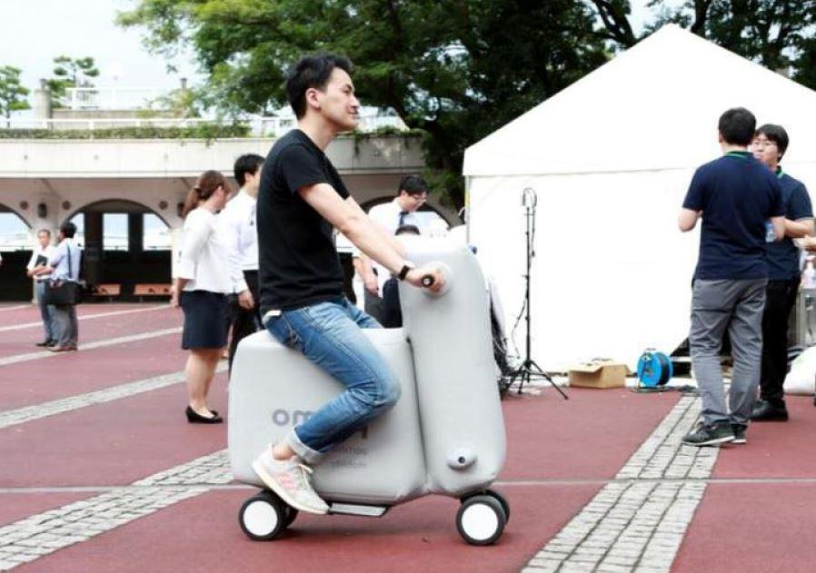 Poimo – bicicleta electrica gonflabila
